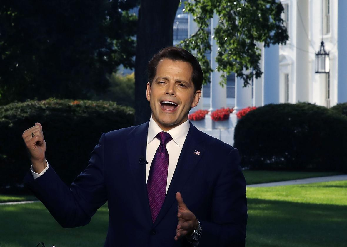 "On his first day, Anthony Scaramucci promised less ""palace intrigue"""