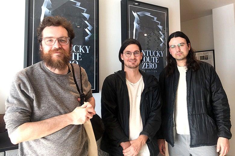 Jake Elliott, Tamas Kemenczy, and Ben Babbitt, creators of Kentucky Route Zero.