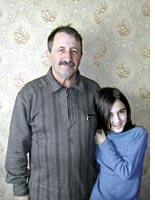 Magomed Surov and his daughter Fatima