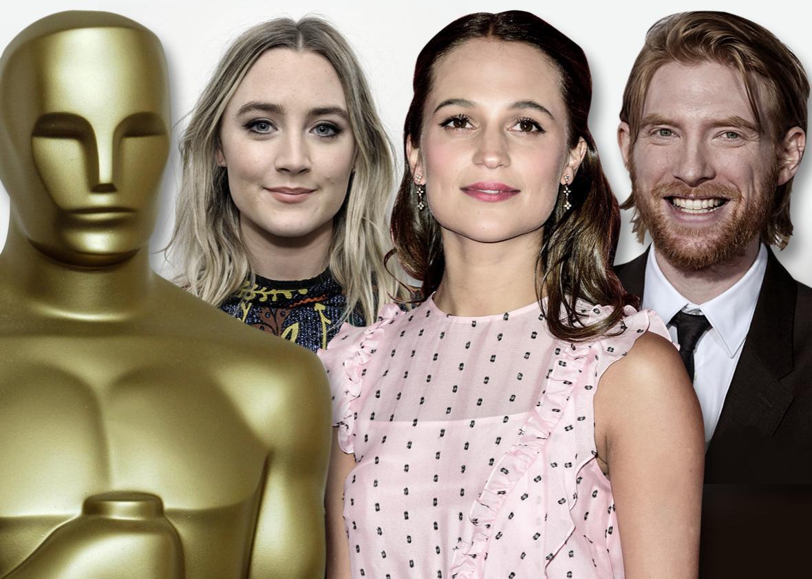 Saoirse Ronan, Alicia Vikander, and Domhnall Gleeson