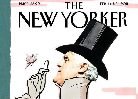 Jay Leno's head photoshopped onto a New Yorker cover