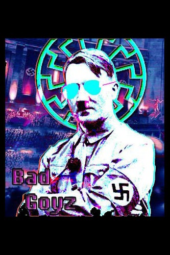 Screenshot from Discord showing Hitler with sunglasses
