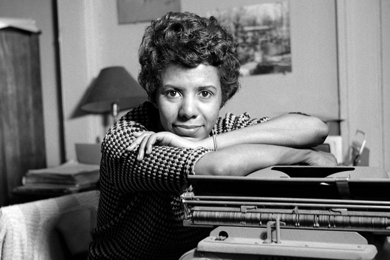 Writer and playwright Lorraine Hansberry poses for a portrait in her apartment in 1959 in New York.
