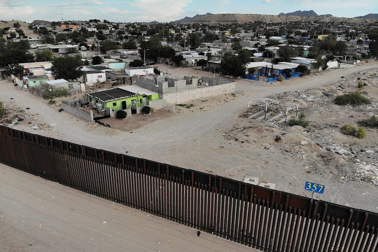 The U.S./Mexico border fence is seen on July 19, 2018 in Sunland Park, New Mexico.