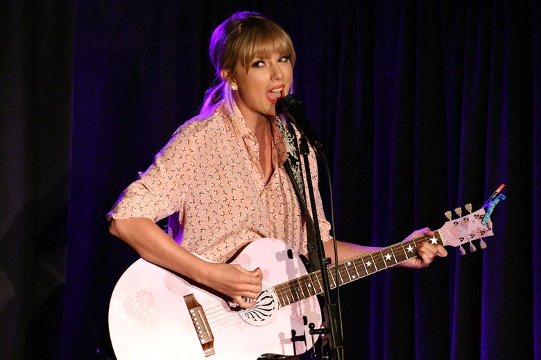 Taylor Swift performs at AEG and Stonewall Inn's pride celebration.