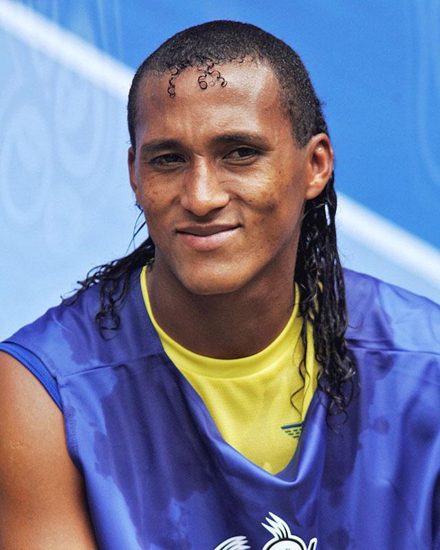 Ecuadorian defender Jose Perlaza, June 2006, in Hamburg, Germany.
