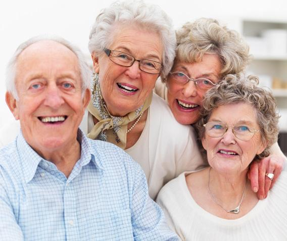 A group of happy older people.