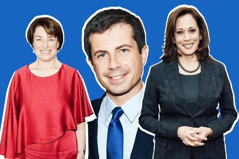 Amy Klobuchar, Pete Buttigieg, and Kamala Harris