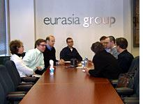 The Eurasia Group morning meeting