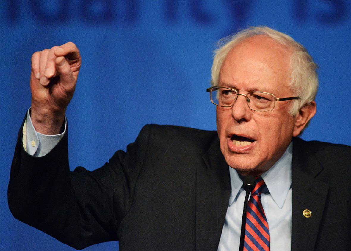 Democratic presidential candidate Sen. Bernie Sanders speaks during the AFL-CIO Convention at the Downtown Sheraton Philadelphia on April 7, 2016 in Philadelphia, Pennsylvania.