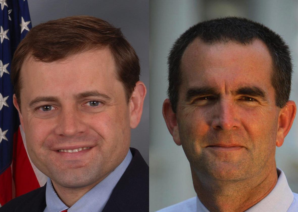 Official Congressional portrait of Rep. Tom Perriello (VA-05) in 2008 and 2017 Democratic Gubernatorial candidate Ralph Northam