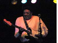 Left-handed bluesman Eugene Gales bends the strings at B.B.'s