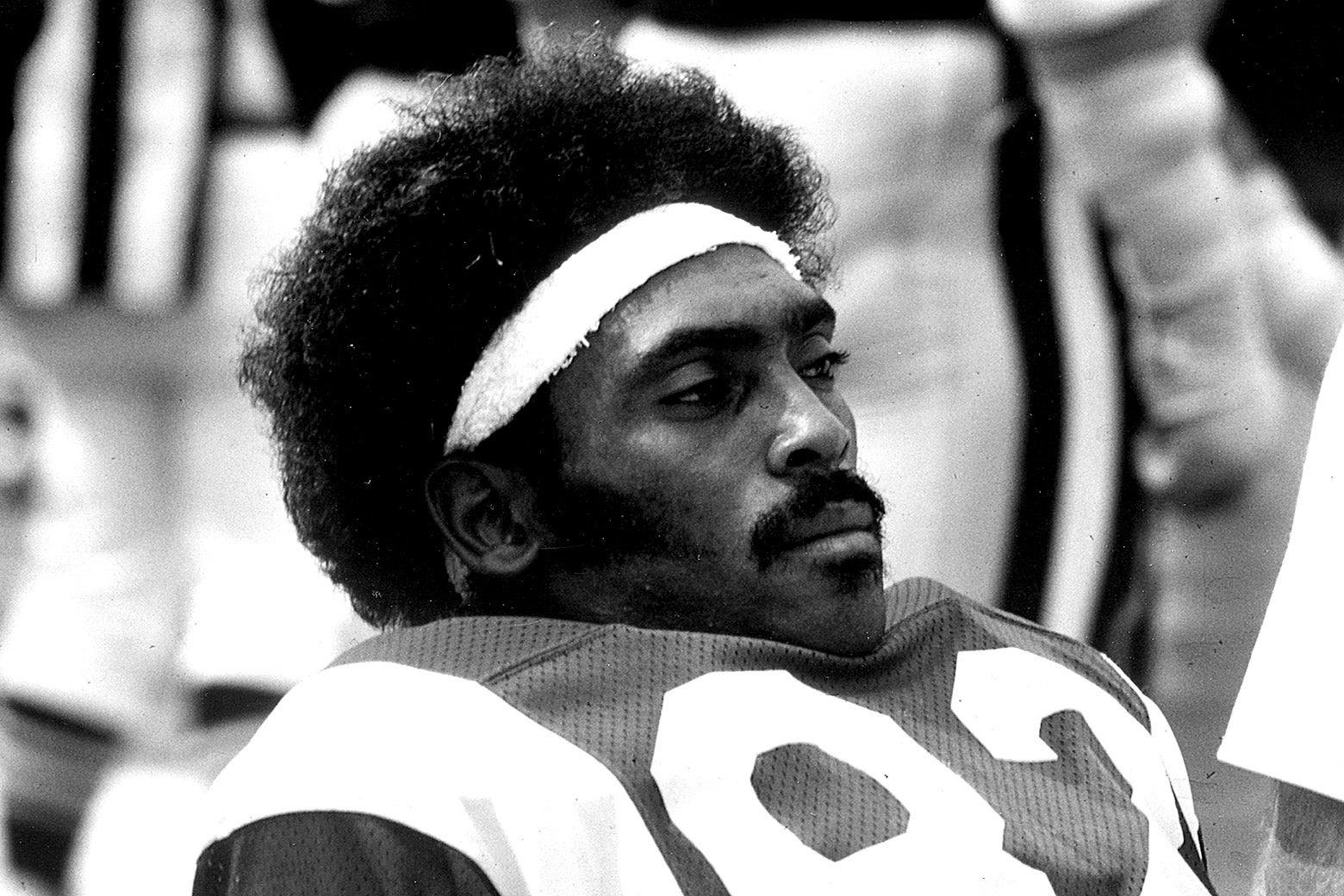 Los Angeles Rams wide receiver Willie Miller before a game in 1979.