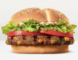 Burger King stuffed steakhouse burger.