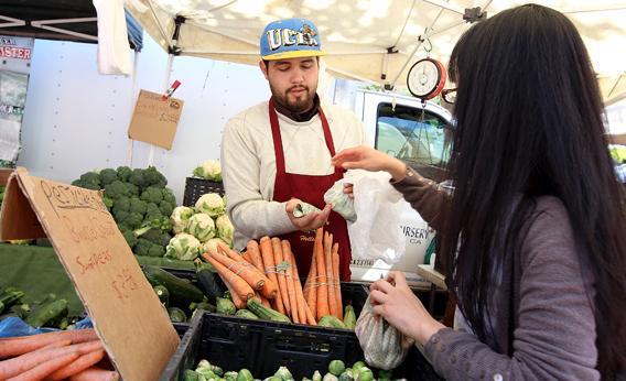 A San Francisco farmers market