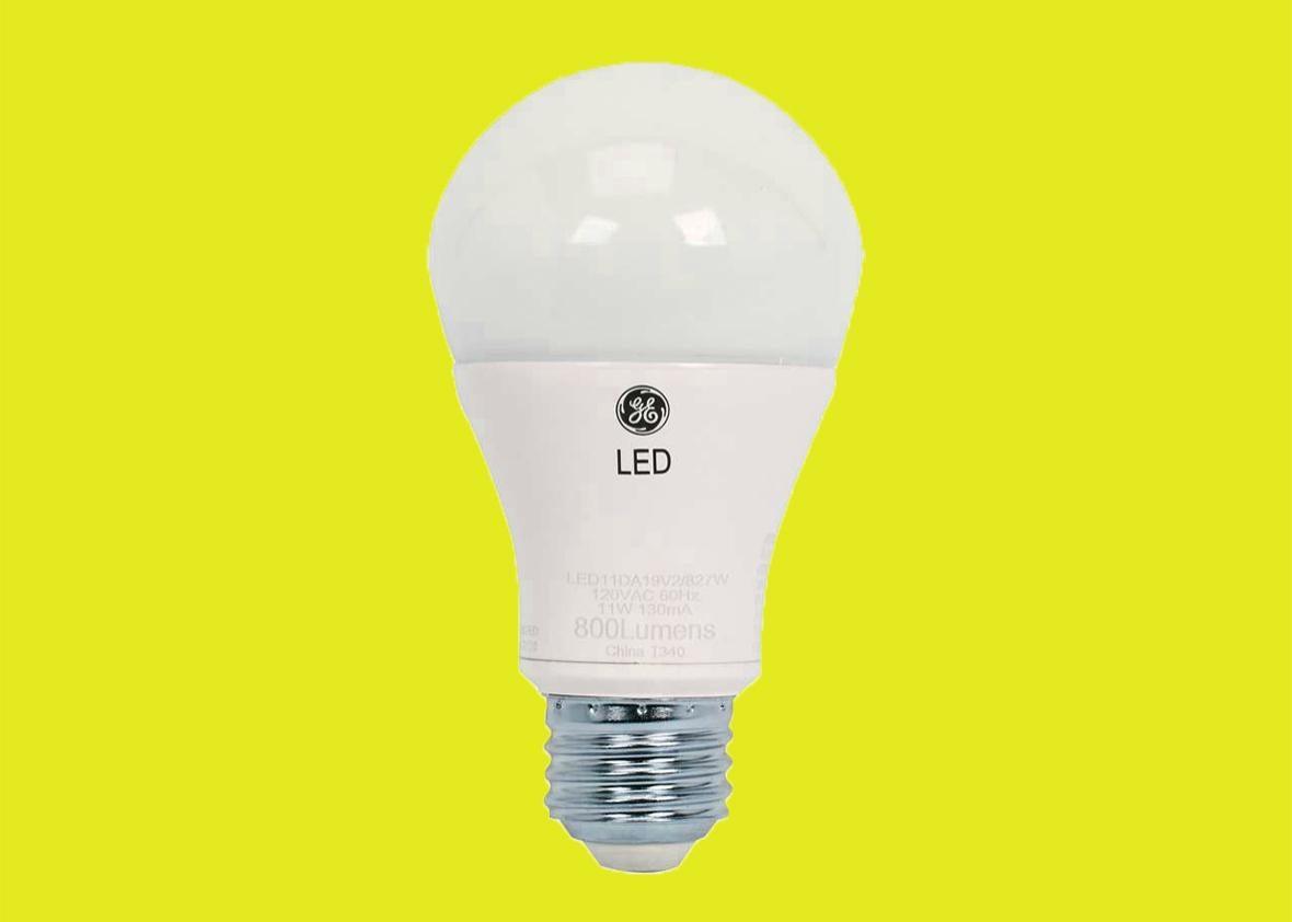 GE LED bulb.