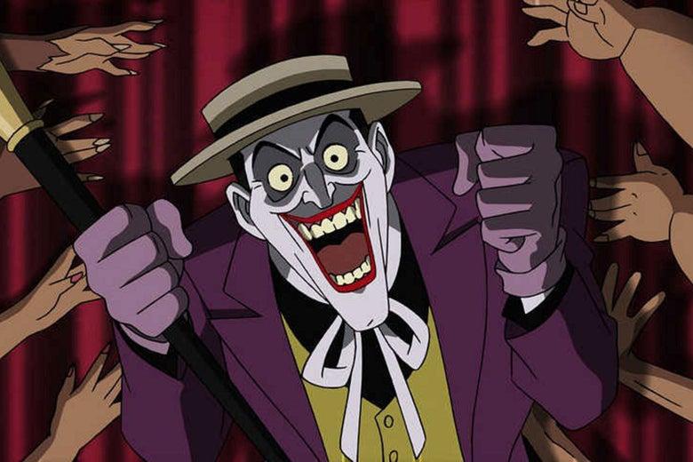 The Joker, in a still from Batman: The Killing Joke.
