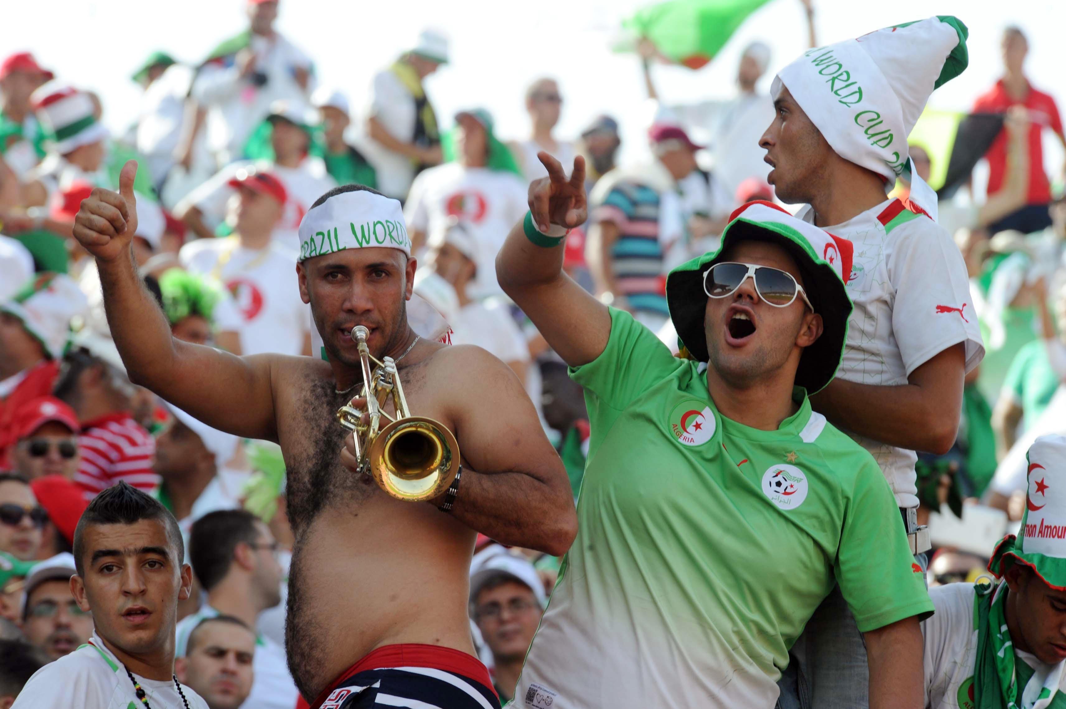 Algerian fans.