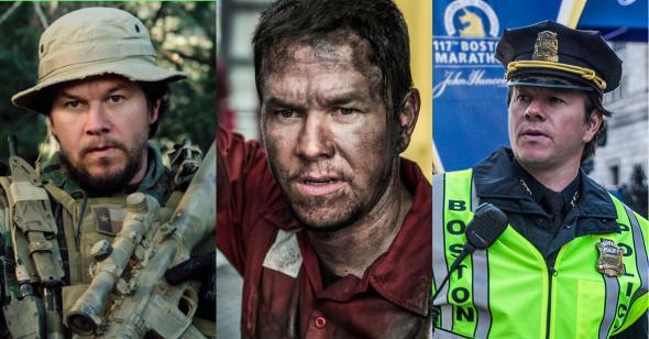 Mark Wahlberg, looking heroic.