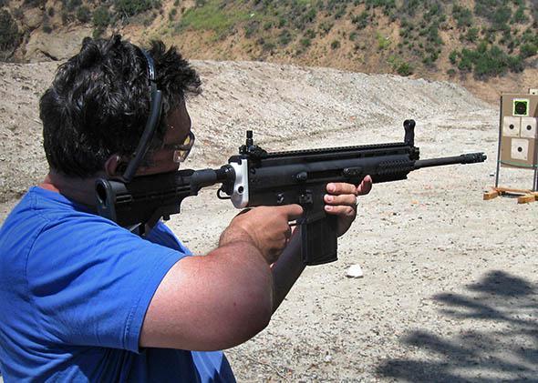 Testing a 3D printed FN SCAR 17s, California, May 2014.
