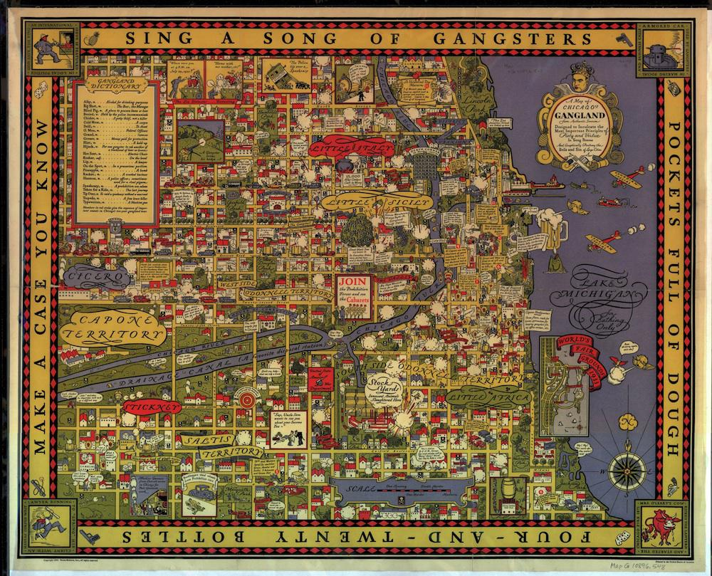 Gangster Chicago map: 1931 map showing turf battles of the 1920s