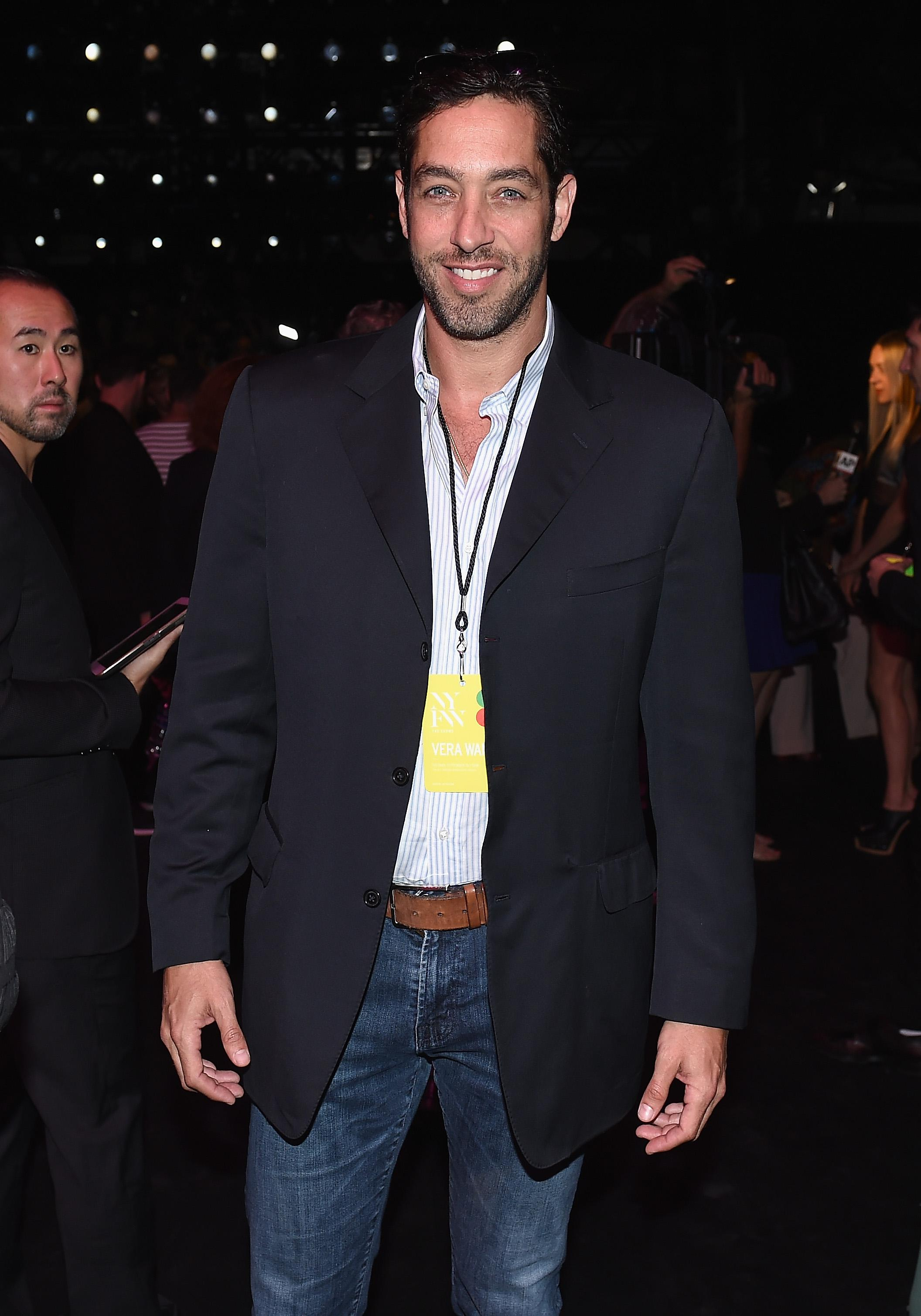 NEW YORK, NY - SEPTEMBER 13: Nick Loeb attends the Vera Wang Collection fashion show during New York Fashion Week: The Shows at The Arc, Skylight at Moynihan Station on September 13, 2016 in New York City.  (Photo by Nicholas Hunt/Getty Images for New York Fashion Week: The Shows)
