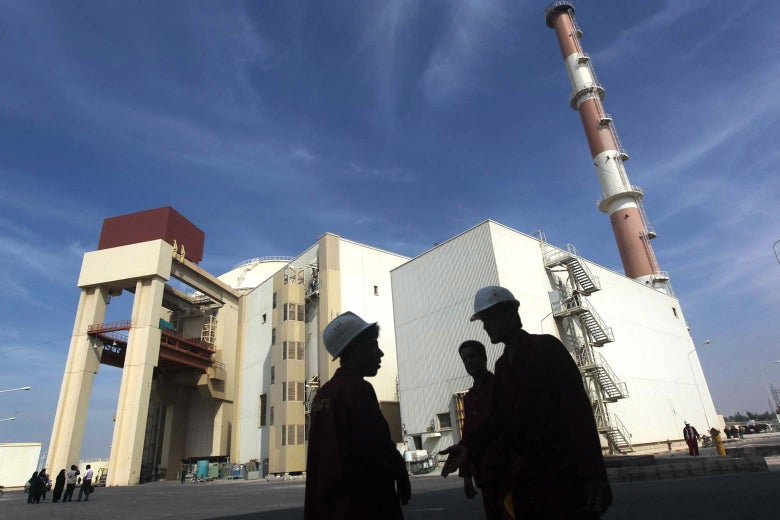 The reactor building at the Russian-built Bushehr Nuclear Power Plant in Iran.