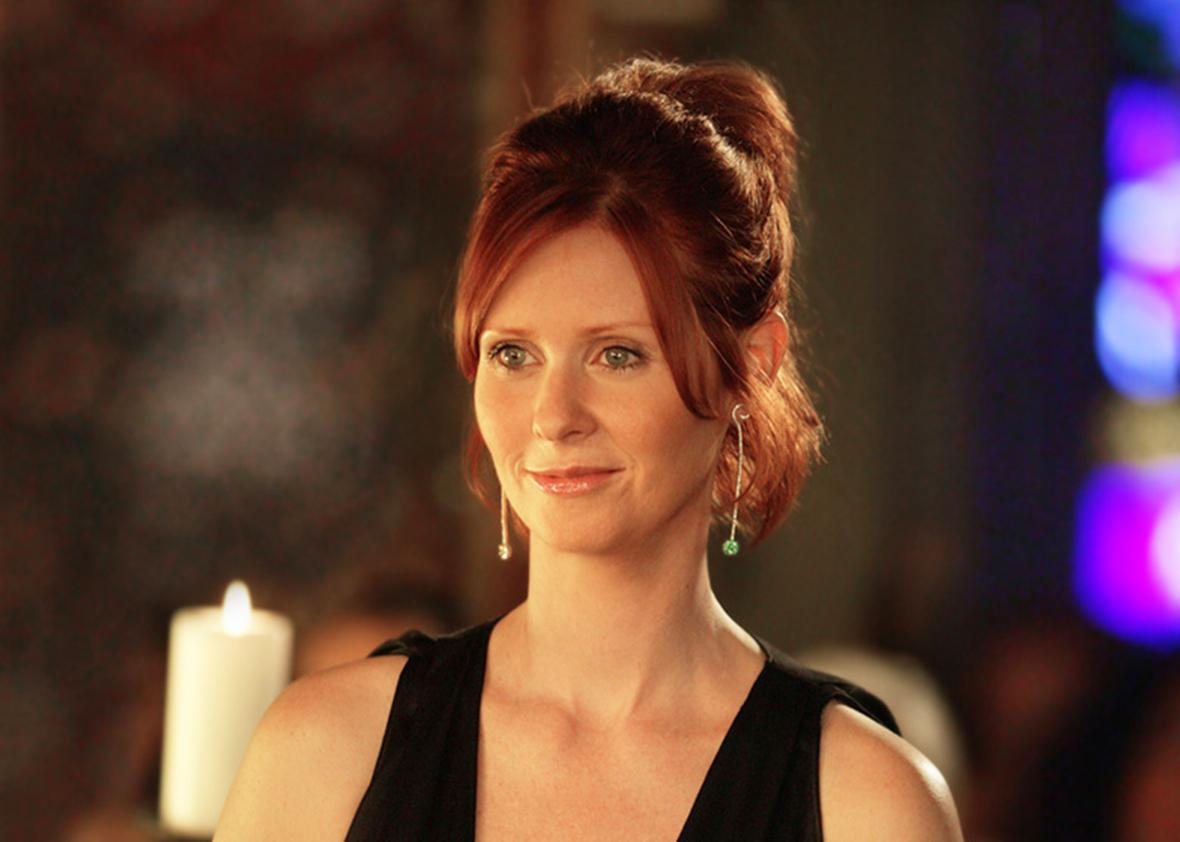 Cynthia Nixon in Sex and the City.