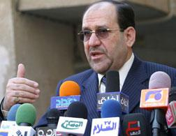 Iraqi Prime Minister Nuri al-Maliki. Click image to expand.