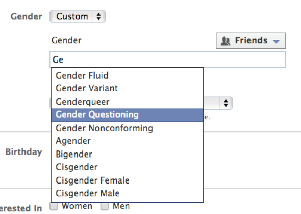 Facebook now offers more than 50 custom gender identifiers.
