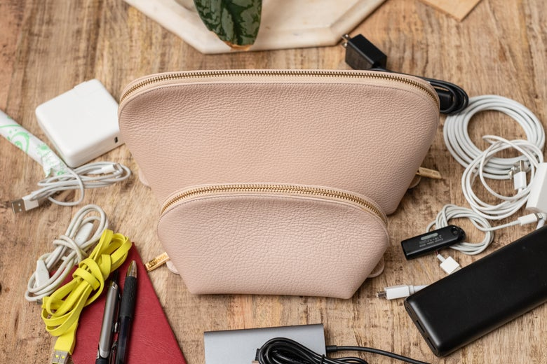 Cuyana Leather Travel Case Set