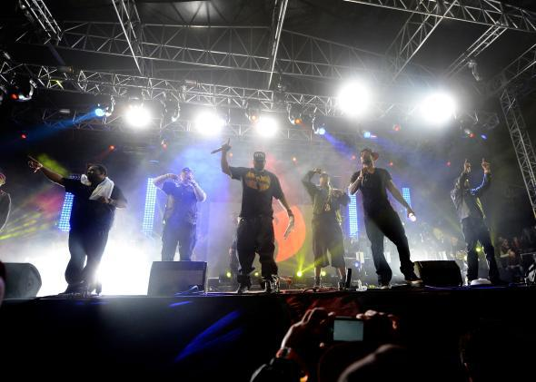 The Wu-Tang Clan performs at Coachella in 2013.