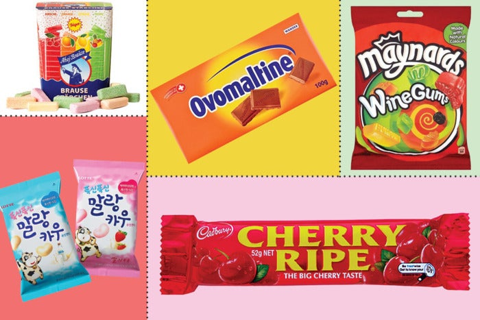 assorted international candies