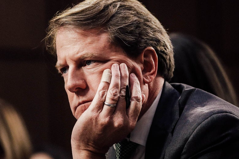 Don McGahn on Capitol Hill on Sep. 6, 2018.