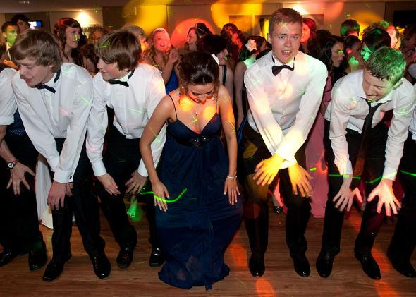 A high-school dance