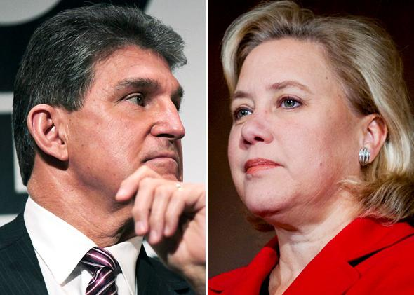 US Senators Joe Manchin, Mary Landrieu
