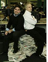 Tony Sclafani (left) and Kerry Burke in Tabloid Wars. Click image to expand.