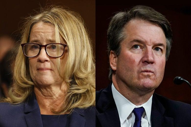 Christine Blasey Ford and Supreme Court nominee Brett Kavanaugh.