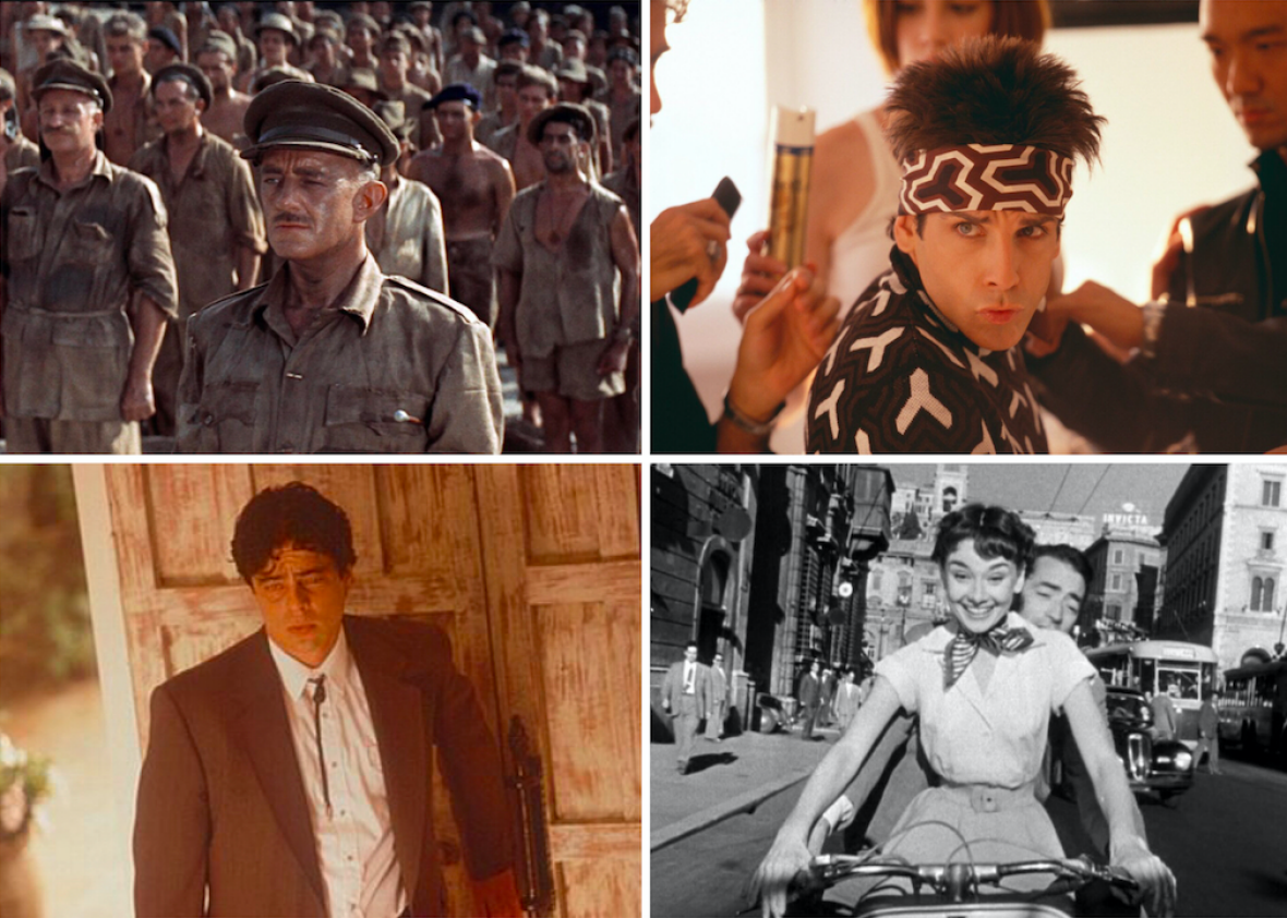 The Bridge on the River Kwai, Zoolander, Traffic, and Roman Holiday