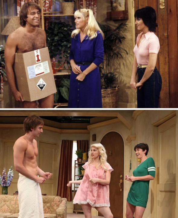 John Ritter, Suzanne Somers and Joyce DeWitt in Three's Company