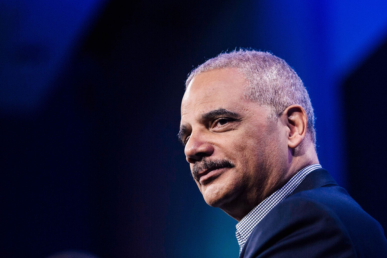 Former Attorney General Eric Holder speaks during an interview at the Washington Post on Feb. 27 in Washington.