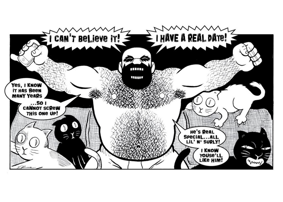 A panel from Wuvable Oaf.