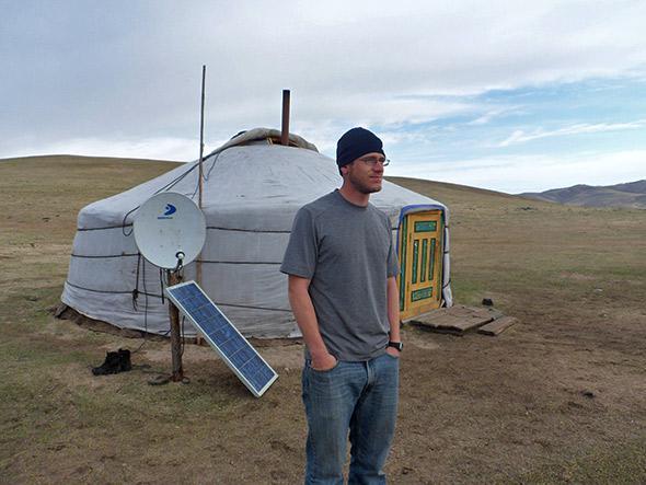 Mongolia ger solar panel