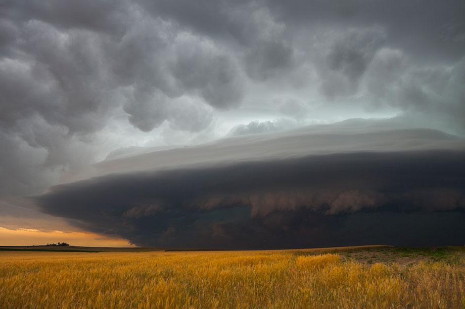 A severe storm races in southwest Nebraska, June 10, 2006