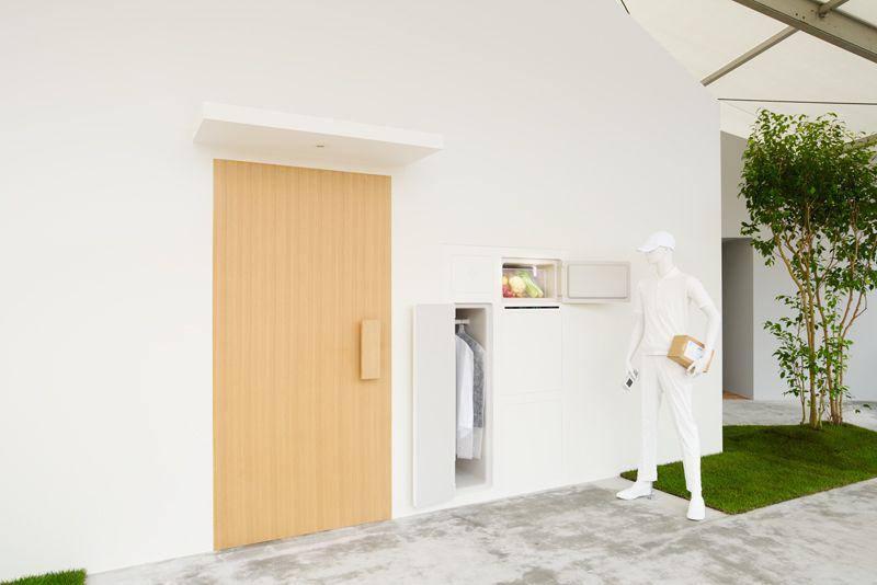 This Japanese House Concept Has an Outdoor Refrigerator for Grocery Delivery