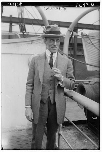 D.W. Griffith on a ship's deck.