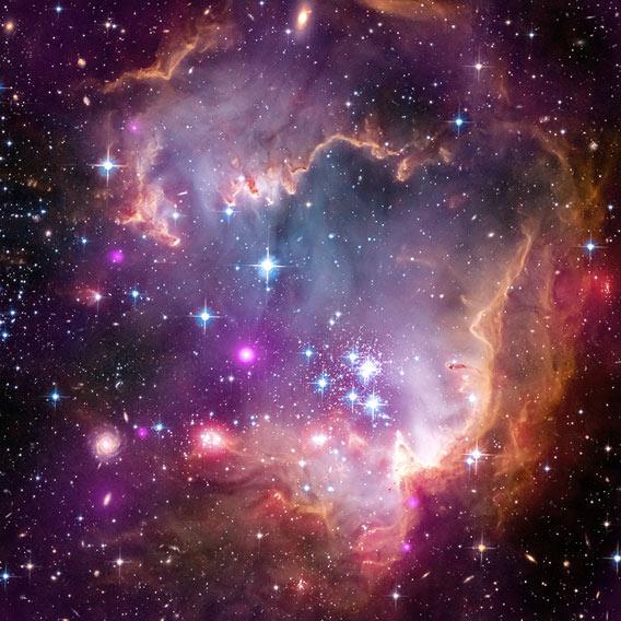 Star-forming nebula NGC 602