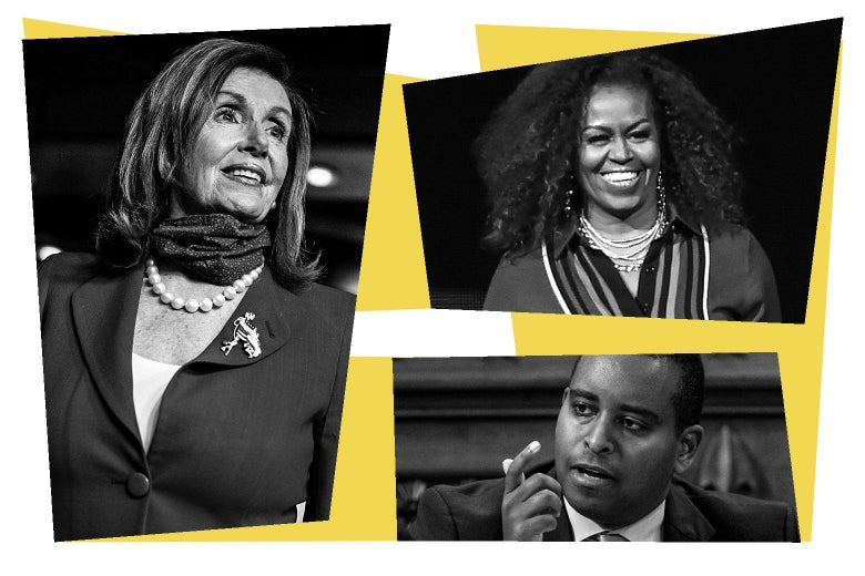 Nancy Pelosi, Michelle Obama, Joe Neguse.
