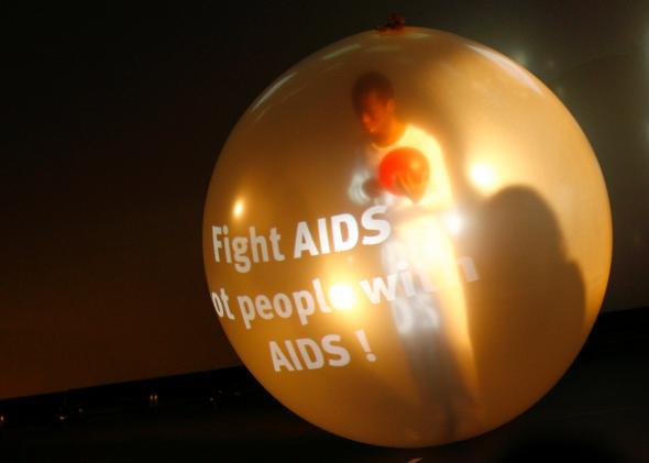 The German dance company lissanger promotes HIV awareness during World AIDS Day 2008.