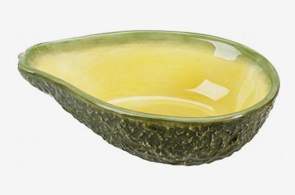 Home Gourmet Collection Medium Ceramic Avocado Serving Bowl.